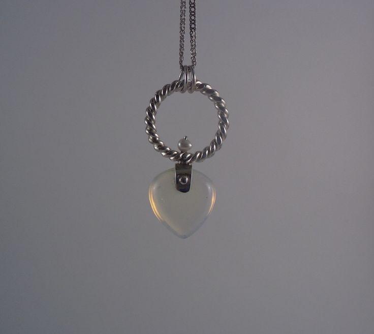 Alexandra Astafeva. Silver Pendant. Pearls. Moonstone.