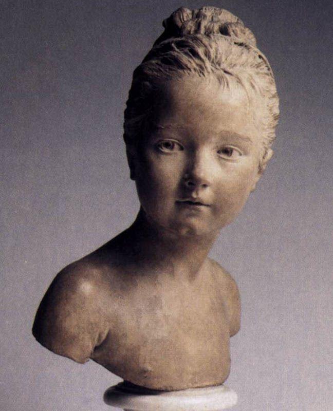 young girl    ...Jean-Antoine Houdon. Louise Brongniart  1777  Terracotta, height 35 cm  Musee du Louvre, Paris
