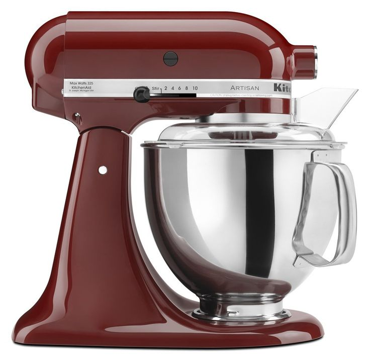 Well, cinnamon is a great color for the kitchen, so why not a Cinnamon KitchenAid mixer. Choose the Artisan, Classic or Pro 600.