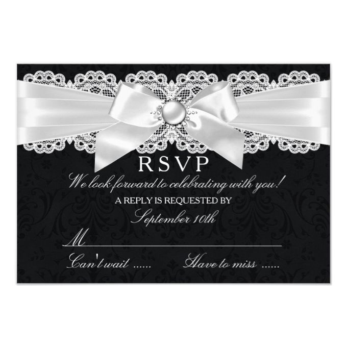 best black and white wedding invitations images on, invitation samples