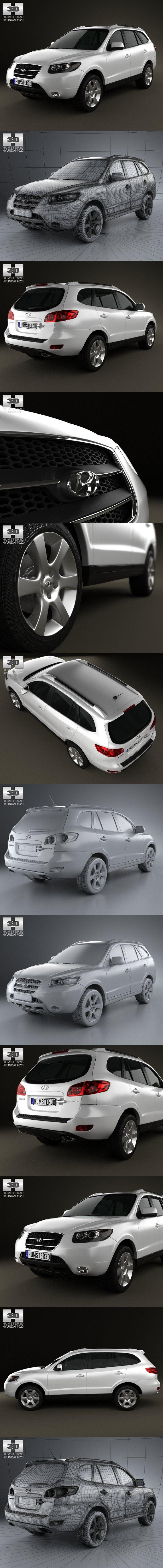 Hyundai Santa Fe 2007. 3D Vehicles