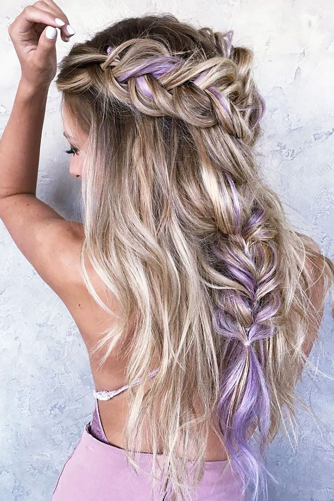 Gorgeous plait with layered lilac