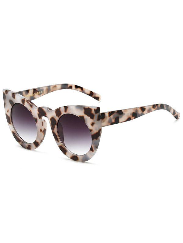 Круглые линзы Хоксбилл Cat Eye Солнцезащитные очки - светло-серый