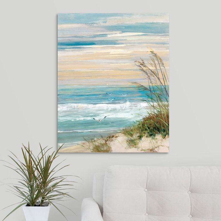 Greatbigcanvas Beach At Dusk By Sally Swatland Canvas Wall Art