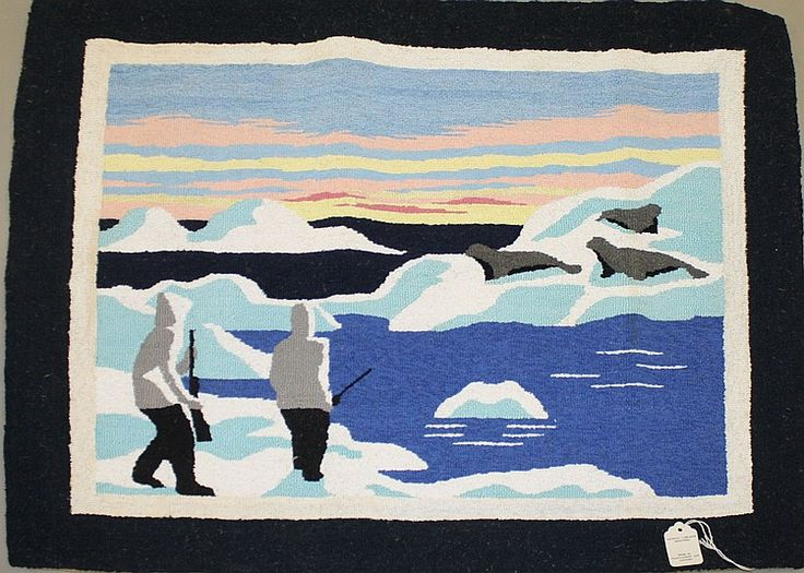 Buy online, view images and see past prices for Grenfell Seal Hunting scene hooked rug in mint. Invaluable is the world's largest marketplace for art, antiques, and collectibles.