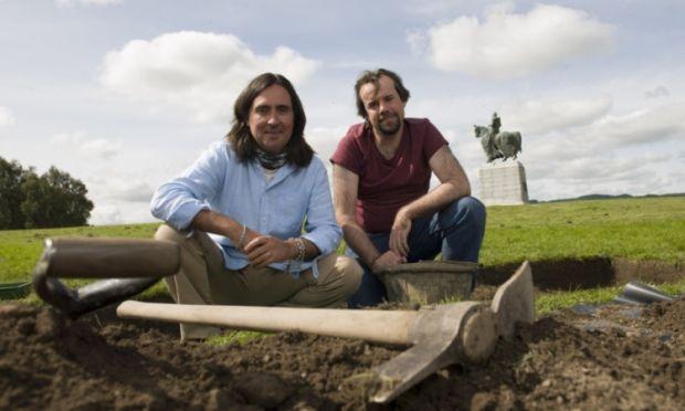 Neil & Tony Pollard at the site of Battle of Bannockburn.