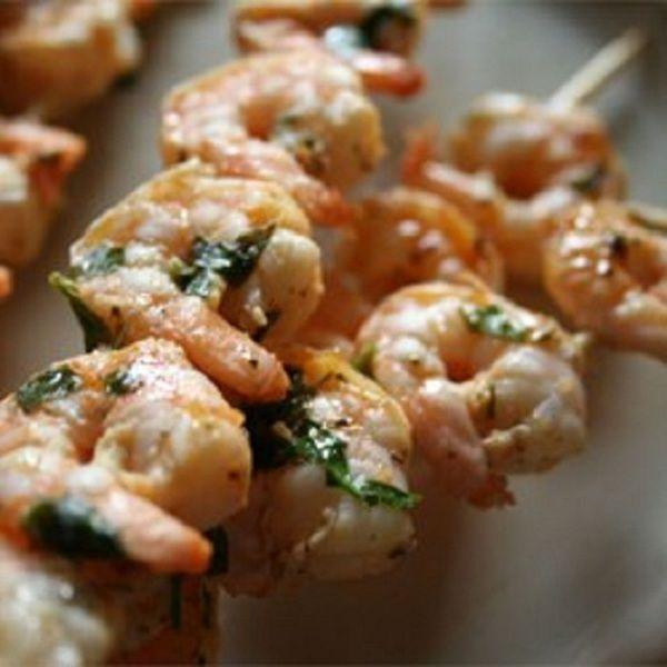 Grilované marinové krevety