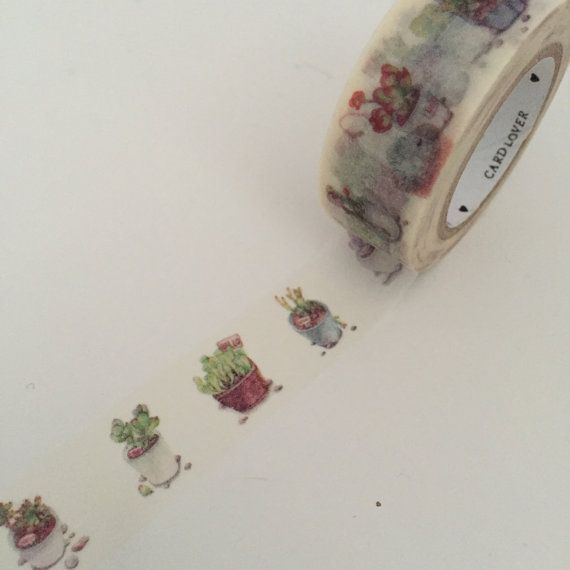 Pot Plant Cactii Cactus Washi Tape Adhesive by TheSupplyHaven
