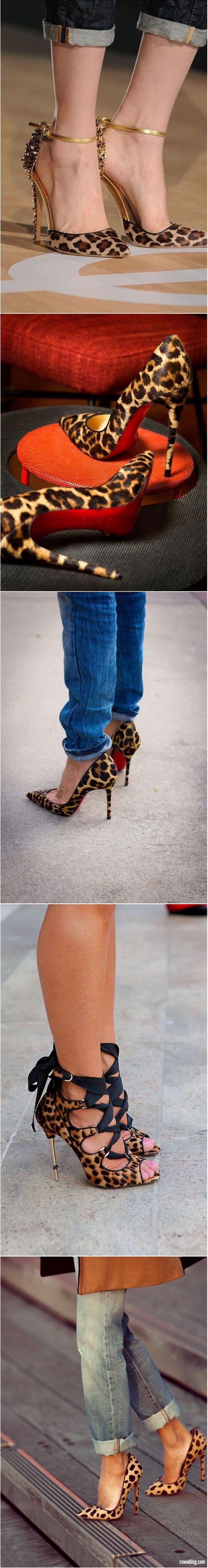 #Leopard print trend #heels #shoes
