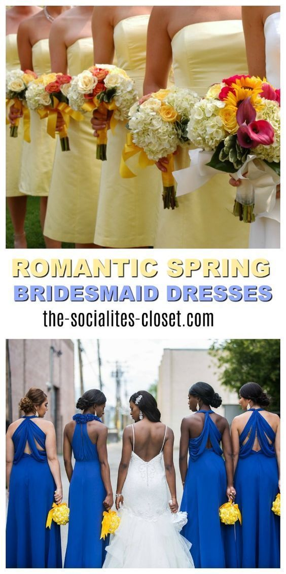 Looking for the perfect spring bridesmaid dress? Here are a few tips to consider when choosing the dress your bridesmaids will wear. From a casual bridesmaid dress to a formal bridesmaid gown. Style inspiration for your bridal party #wedding #springwedding #weddingtrends via @ellenblogs