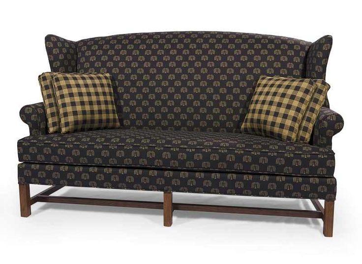 primitive sofa sofa heart shaped back 5211034 sturbridge black primitive sofas thesofa. Black Bedroom Furniture Sets. Home Design Ideas