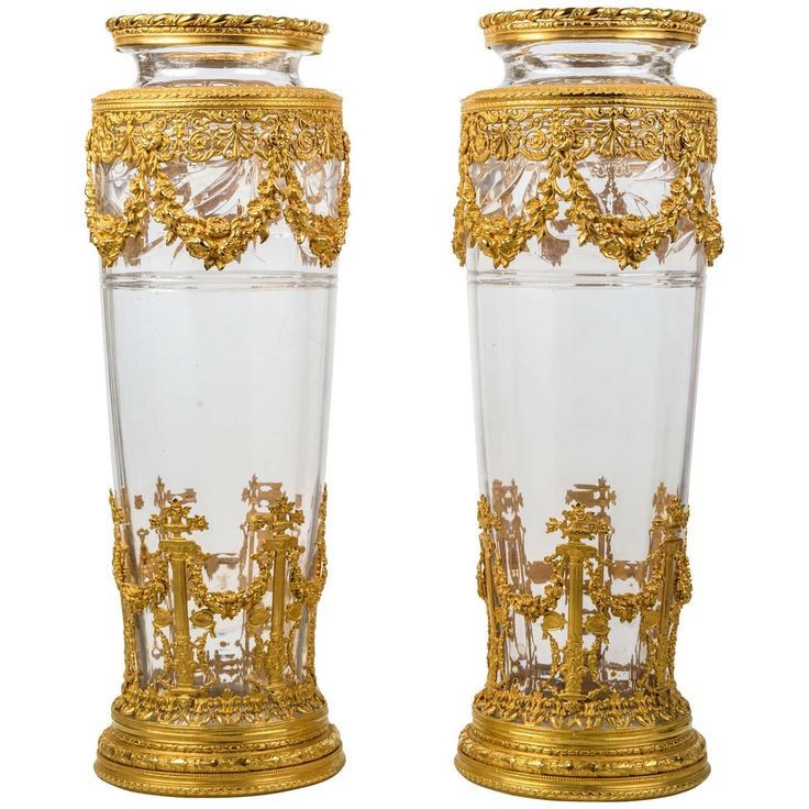 Pair of Baccarat crystal Vases | From a unique collection of antique and modern vases at https://www.1stdibs.com/furniture/more-furniture-collectibles/vases/