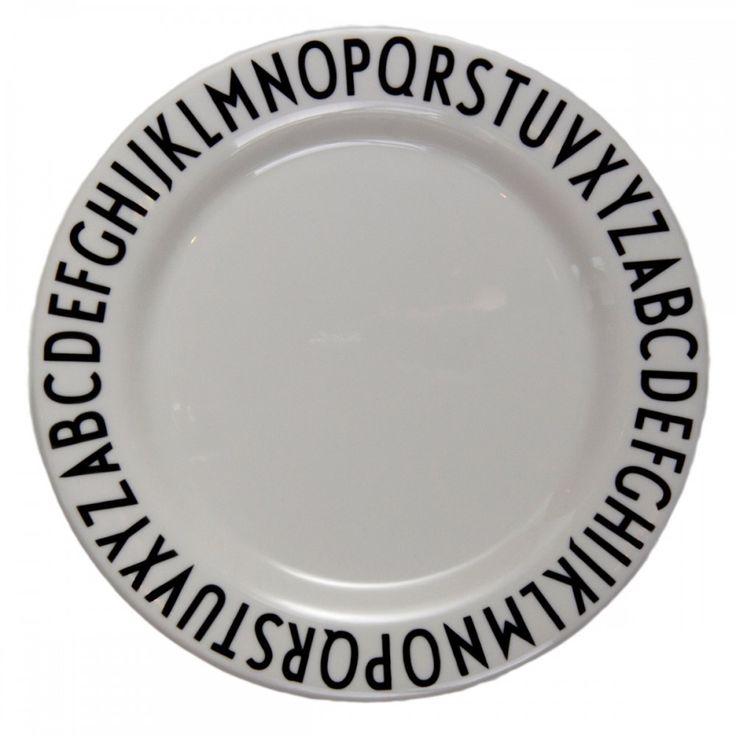 Assiette mélamine Letters, Mélamine - MERCI
