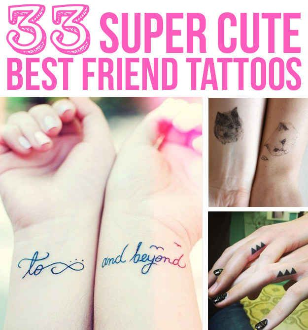 33 Super Cute Best Friend Tattoos I really like the coordinates