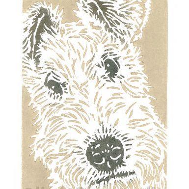 Wire Fox Terrier Dog - Original Hand Pulled Linocut Print £25.00
