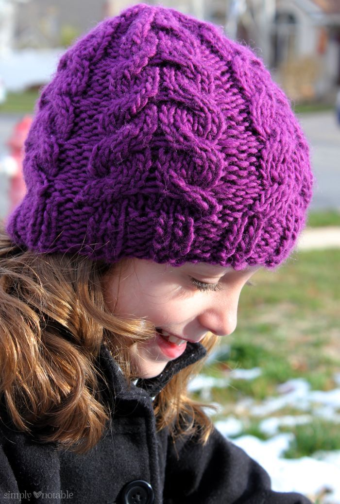 Knit Flat Hat - Simply Notable