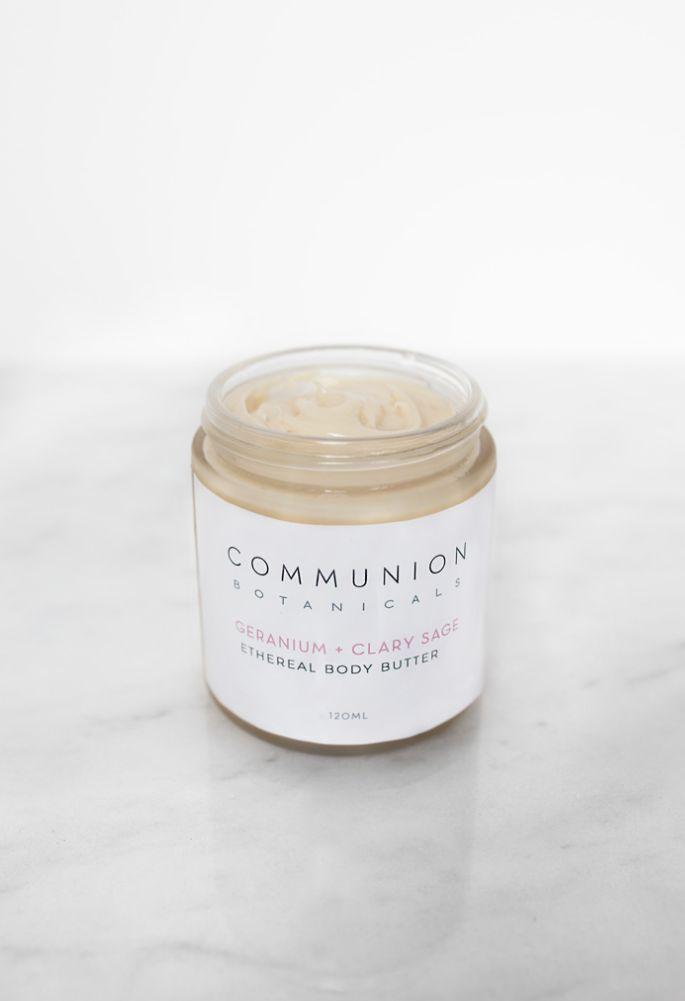 Communion Botanicals Geranium + Clary Sage Body Butter