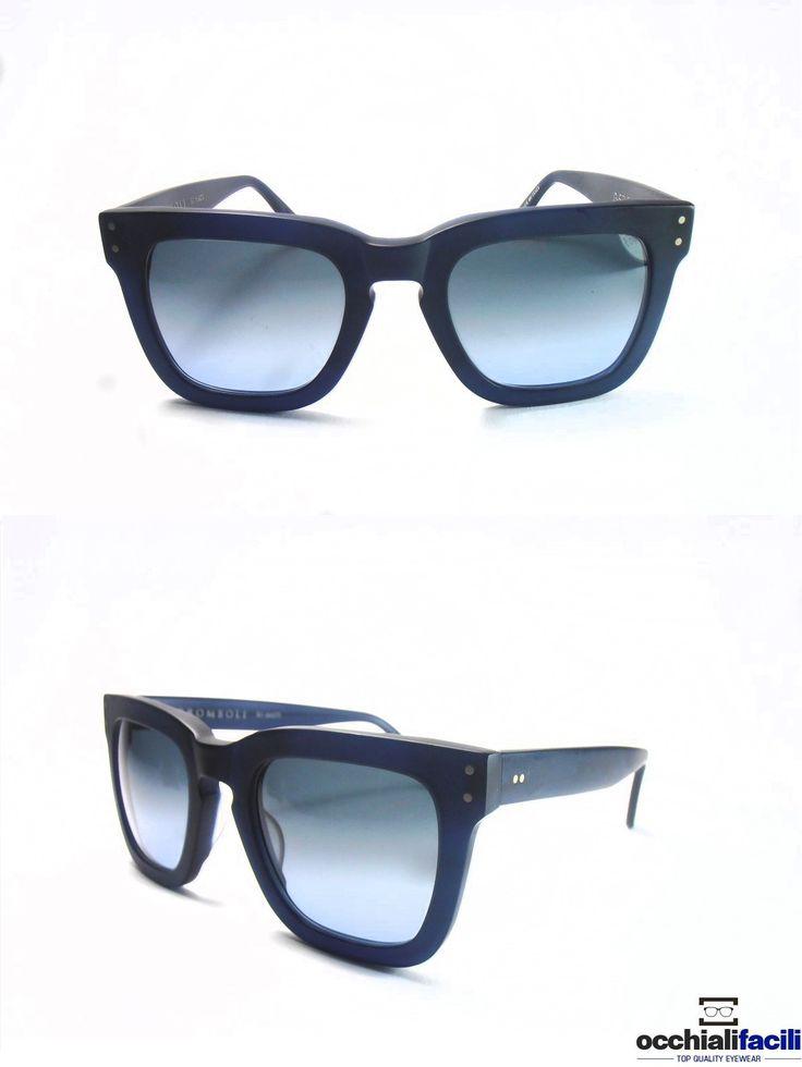 Occhiali da sole G-Sevenstars Stromboli Matt, forms oversize in celluloide blu satinato con lenti color azzurro chiaro. http://www.occhialifacili.com/prodotto/occhiali-da-sole-g-sevenstars-stromboli-n/