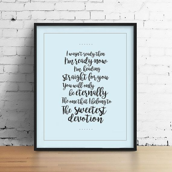 Adele Wall Decor Adele Song the sweetest devotion by theramblr
