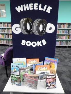 Library Displays: Wheelie Good Books