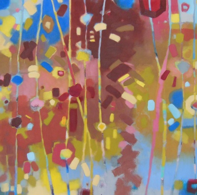 Original artwork by Jennifer Weber, abstract, colour, oil painting, home decor, wall decor, art