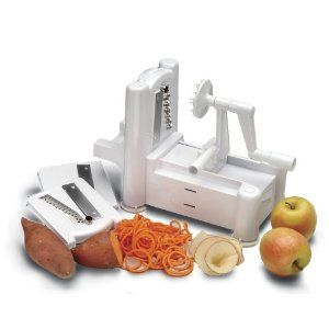 World Cuisine 48297-99 Tri-Blade Plastic Spiral Vegetable Slicer....I have seen how this stuff makes veggies look like pasta!  I want one