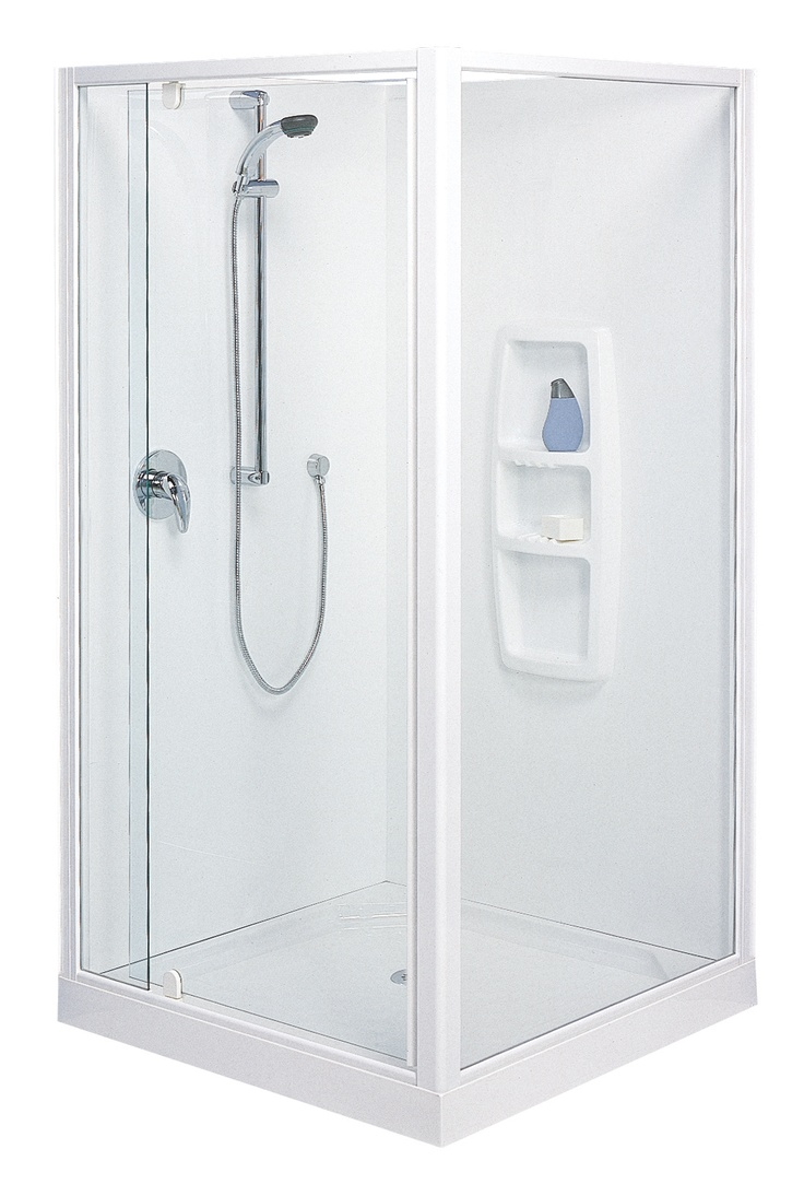 Felton designer 2 shower wall set bunnings warehouse - Clearlite Sierra Square Moulded Wall Shower Enclosure Available At Pecks Plumbing Plus Manukau