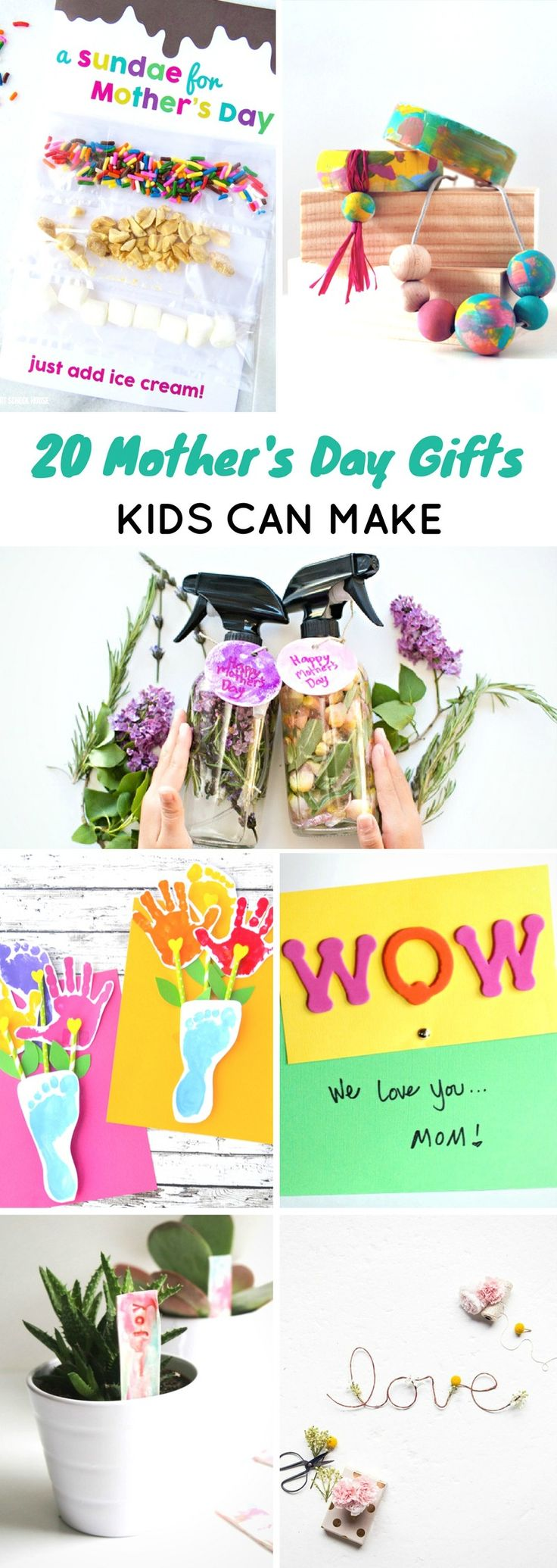 20 Mothers Day Gifts Kids Can Make #mothersday