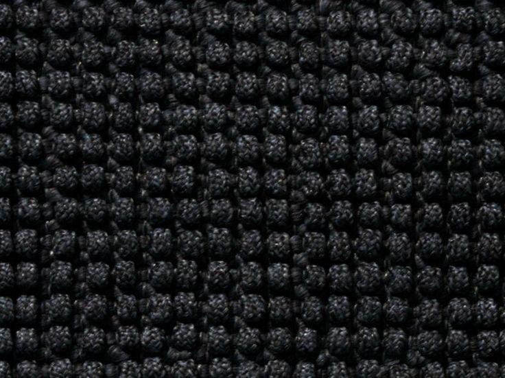 Tapis d'extérieur uni fait main de fibres synthétiques LOOP by Warli design Paolo Zani