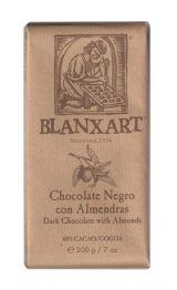 Blanxart 200g. Ciocolata neagra 60% cu migdale