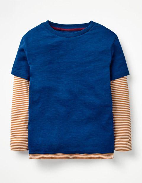Boden Mehrlagiges T Shirt Blue Jungen Boden Blue Blau Mode Fur
