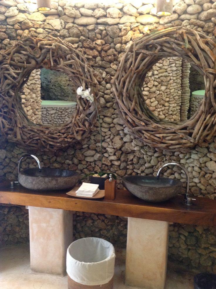 Loved the bathrooms at Finn's Beach Club, Uluwatu, Bali.