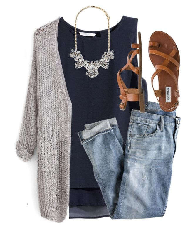 """""""Calm is a superpower"""" by joannakirk ❤ liked on Polyvore featuring H&M, J.Crew, Forever 21 and Steve Madden"""