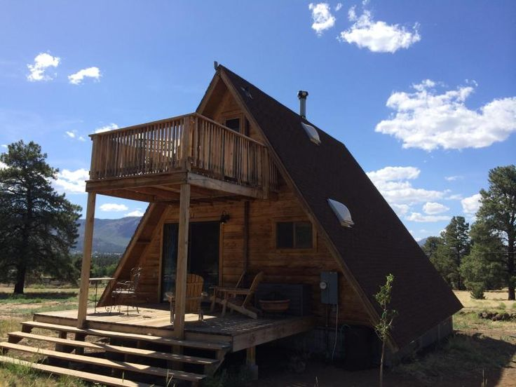 Rear deck and balcony - A-Frame Cabin in a National Forest - Flagstaff -  - rentals