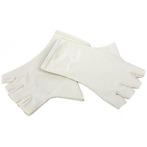 Mangrove Sun Gloves - Fingerless Activity Sun Gloves, Size: Large - Color: Bone