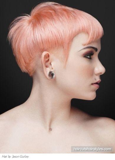 Peachy & Dream #punk #hair #peach #sculpture