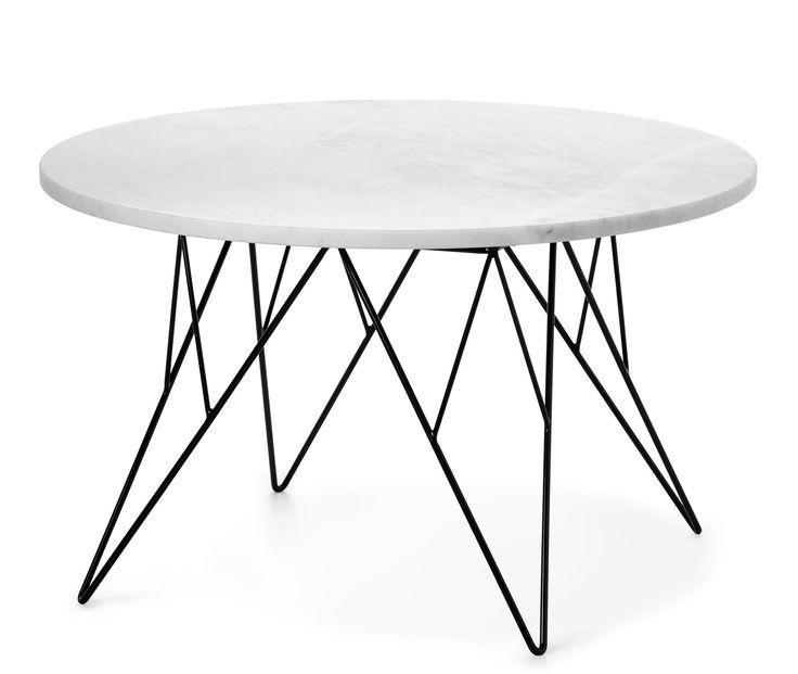 Produktbild - Livia, Soffbord i marmor, Ø 80 cm