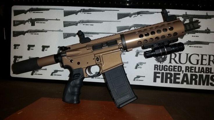 Ar 15 Pistol Duracoat Aged Bronze Guns Pinterest