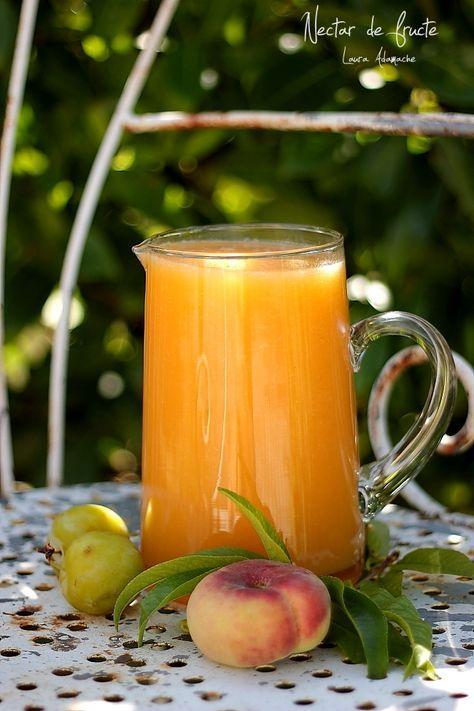 Nectar de fructe retete culinare bauturi. Nectar cu piersici, pepene galben si prune. Reteta de nectar de fructe, mod de preparare, ingrediente