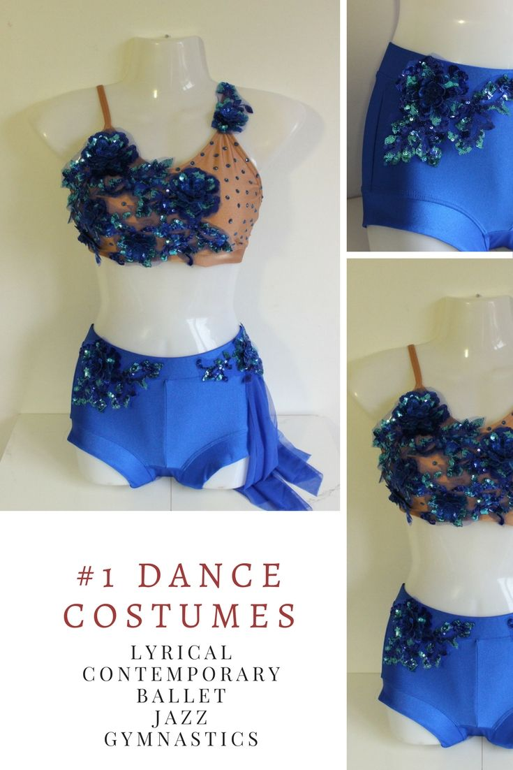 Two piece competitive royal blue solo costume. One of a kind handcrafted lyrical/ contemporary dance costume made just for you. Visit our shop for more latest styles.