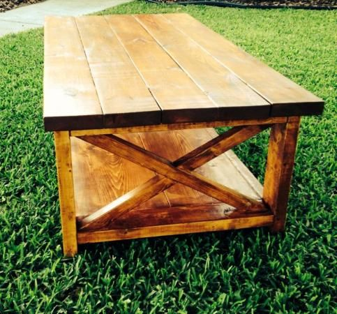 Rustic x coffee table do it yourself home projects from ana white coffee table plans Do it yourself coffee table