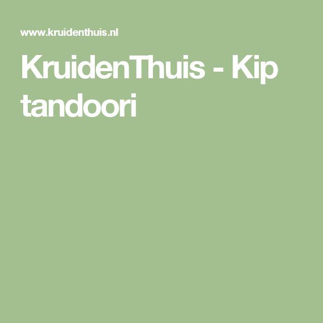 KruidenThuis - Kip tandoori
