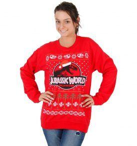 Ugly Christmas Sweater Jurassic World T Rex