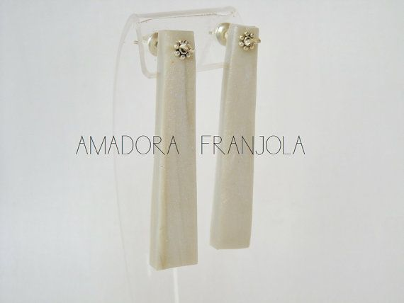 Aros hechos 100 a mano en color crudo de por AmadoraFranjola, $32.00