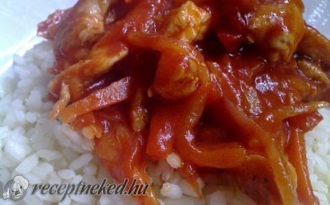 Szecsuáni csirke recept fotóval