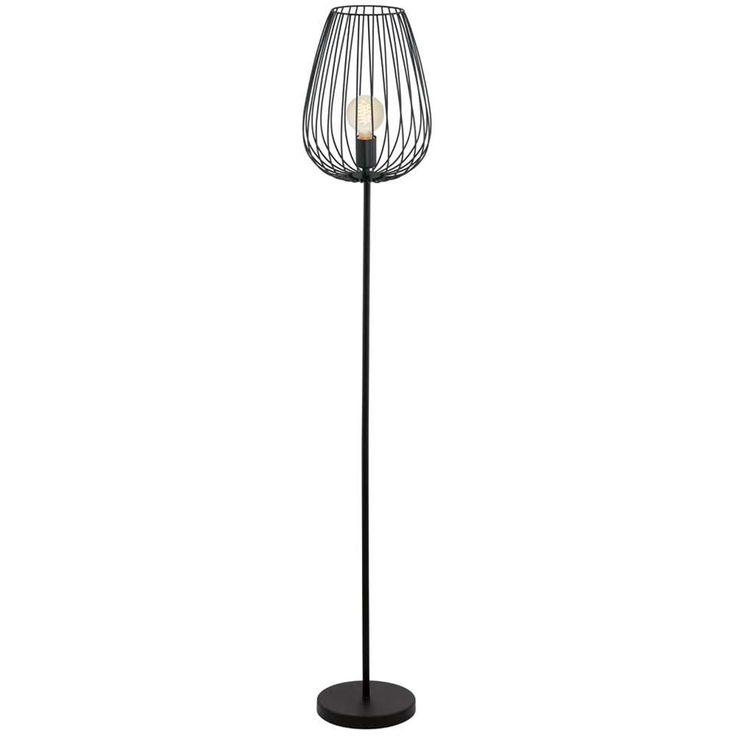 EGLO vloerlamp Newtown - zwart   Leen Bakker