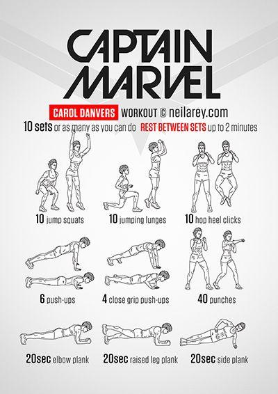 Captain Marvel Workout