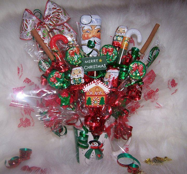 Christmas Candy Bouquet Christmas Pinterest Candy