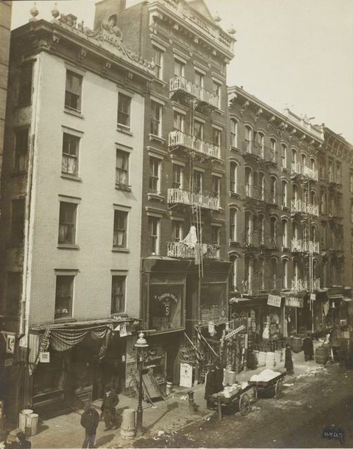 Tenements Typical Old Law Tenements C 1900 Years 1898