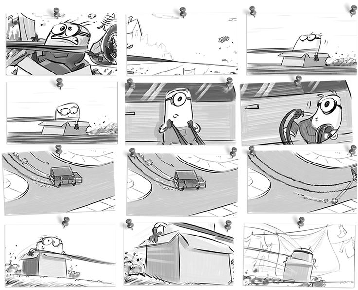 Storyboard of Despicable Me 2